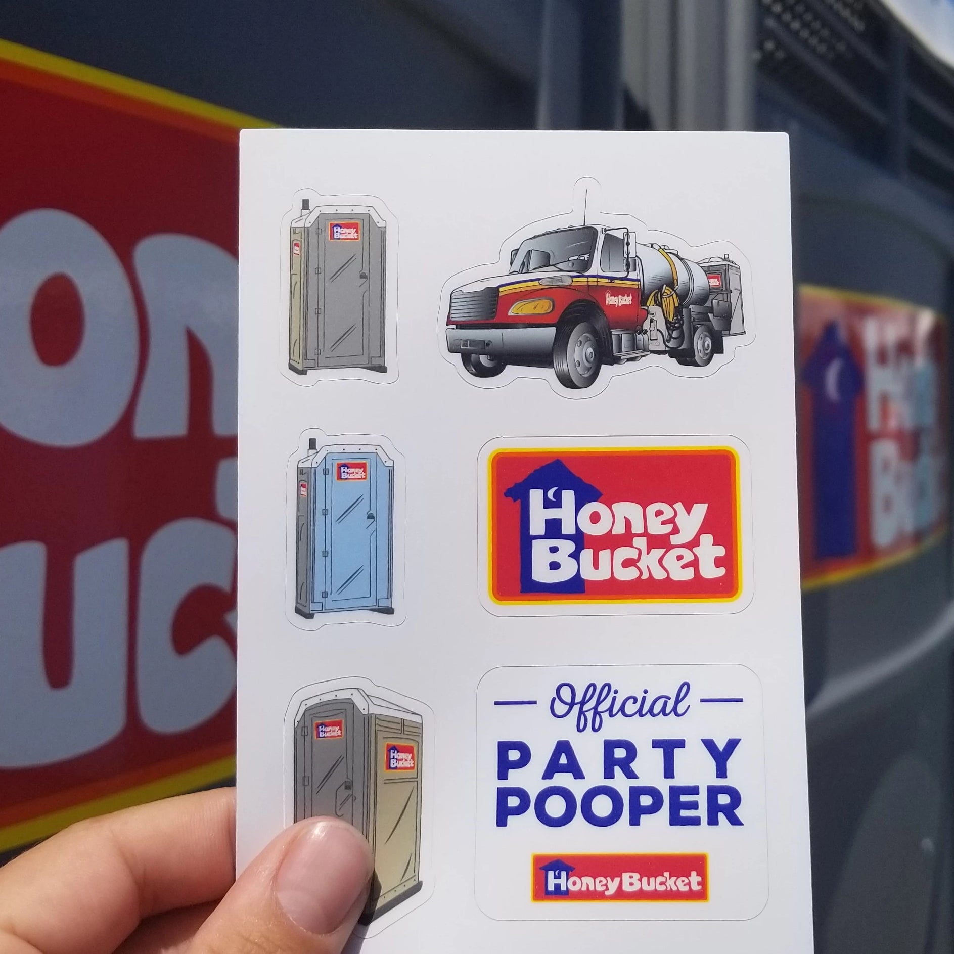 Honey Bucket Sticker Sheet