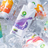 grape electrolyte hydration drink on ice