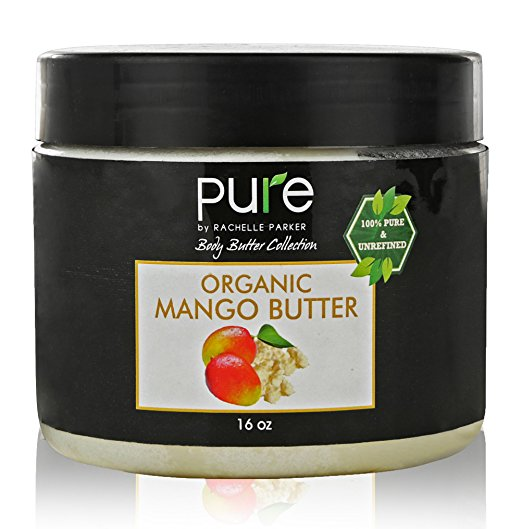 Premium Raw Organic Mango Butter 100% Pure 1 Pound Body Butter by Rachelle Parker. Best Skin Care, & Moisturizer! Organic Mango Butter