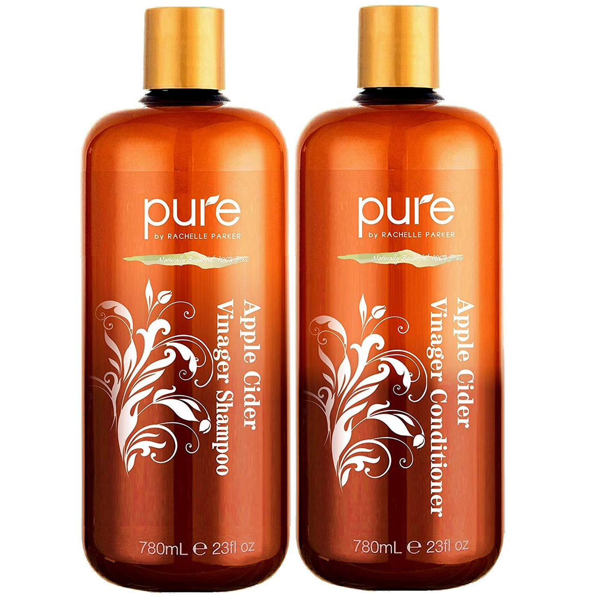 Apple Cider Vinegar Shampoo and Conditioner Set.