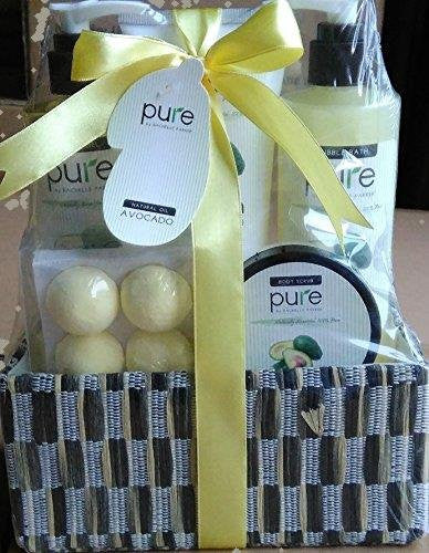 Deluxe Spa Gift Basket- Hydrating Avocoda Oil Skin Therapy Kit Luxury Gift - Wrapped And Ready to Deliver Results