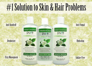 PURE Tea Tree Oil Shampoo & Conditioner Set, 26.5 oz. each + PURE Tea Tree Oil Body Wash