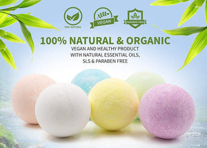 Natural Large Lush Bath Bomb - 8 Pack