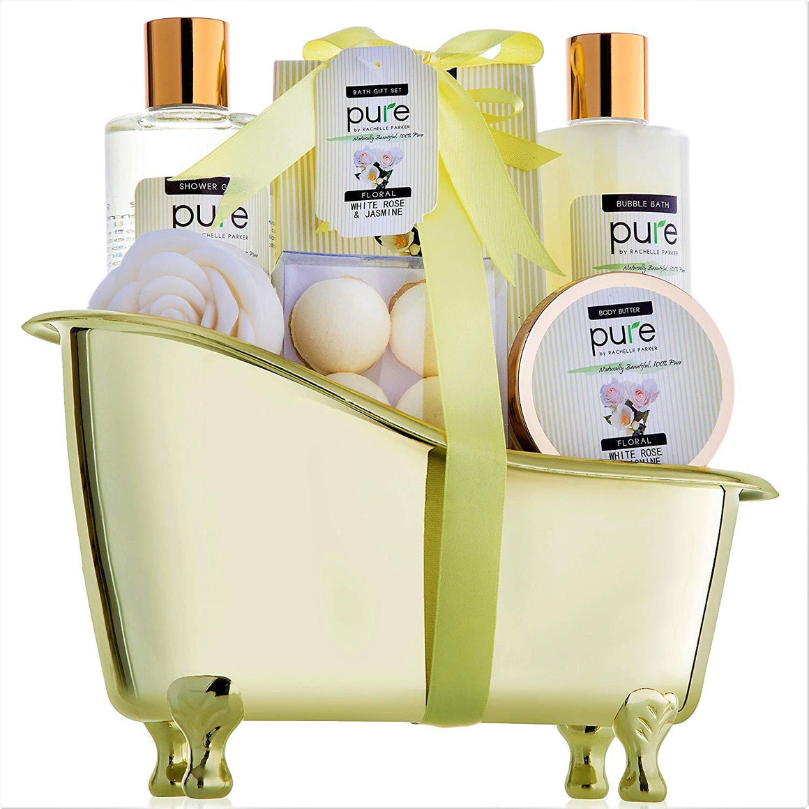 Jasmine & Rose Deluxe Spa Gift Basket for Women