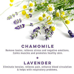 PURE Aromatherapy Lavender and Chamomile Bubble Bath 2 Pack
