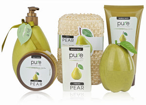 Pure! Spa in a Basket. Deluxe Gift Set for Women (Fresh Pear)