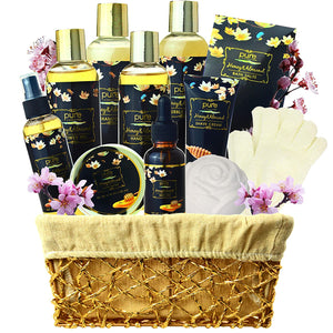 Honey Almond Relaxing Spa Gift Basket for Women!