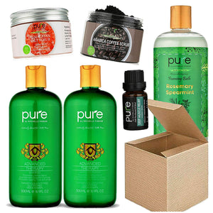 Pure Parker Womens Birthday Gift Box Set. Unique Natural Aromatherapy Bath & Body Products by Pure Parker Including Full Size Shampoo & Conditioner