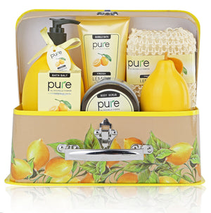 Spa in a Basket - Pure Gift Set for Women (Zesty Lemon)