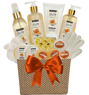 Spa Gift Basket of Bath Supplies for Women - Spa Treatment Gift Basket! Home Spa Kit makes the Best Pampering Gifts for Women! Spa Package is Ideal Gifts for Wife, Mom & All Your Loved Ones!