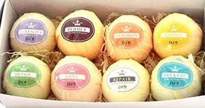 LARGE BATH BOMBS GIFT BOX. Organic Bath Bombs for Men, Women & Kids!