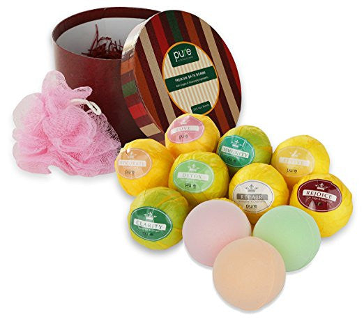 Essential Oil Bath Aromatherapy - 10 Lush Bath Bombs with Organic Ingredients