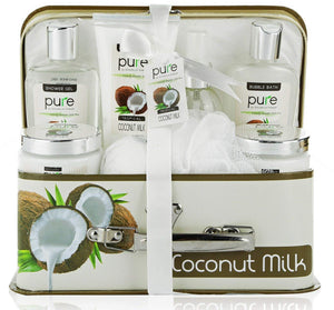 Copy of Pure! Spa in a Basket. Deluxe Gift Set for Women (Coconut Milk)