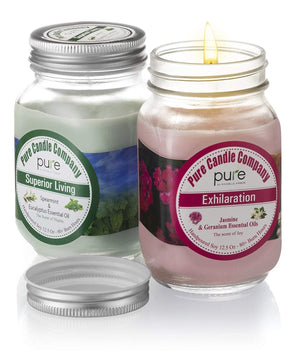 PURE Naturally Scented Aromatherapy Candles Gift Set