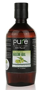 Organic Neem Oil Pure Cold Pressed Unrefined Cosmetic Grade 8 oz