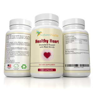 HEALTHY HEART Cholesterol Lowering Supplement. Plant Sterol Complex supplement with Beta Sitosterol and Niacin.