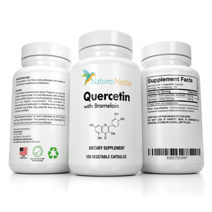 Quercetin with Bromelain Supplements - Quercetin 500mg with 100mg Bromelain per capsule