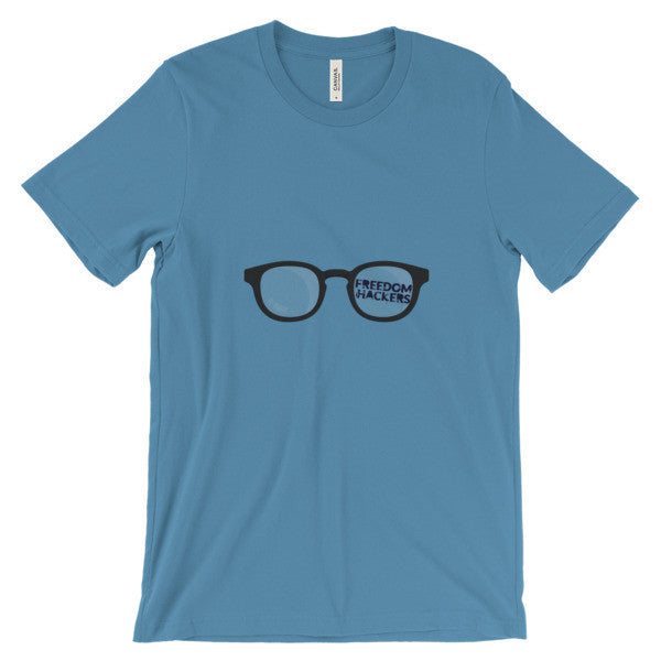 Freedom Hackers Glasses T Shirt