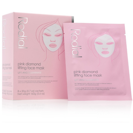 Rodial Pink Diamond Instant Lifting Face Mask 8 Pack