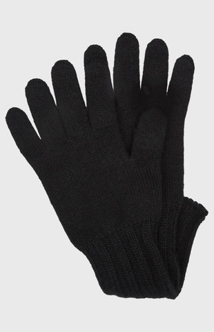 Women's Scottish Cashmere Gloves In Black