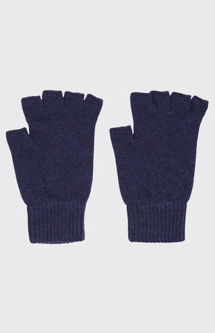 Women's Cashmere Fingerless Gloves In Inkwell