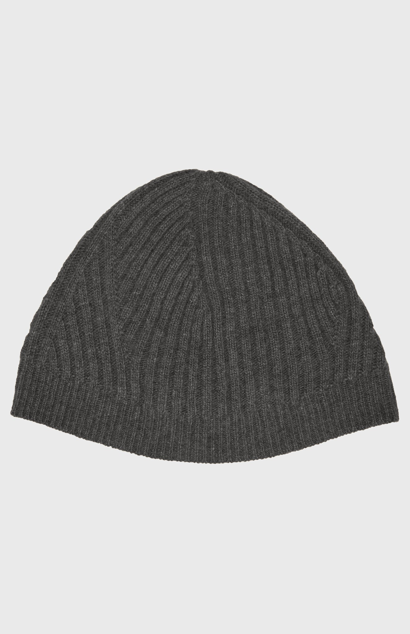 Women's Travelling Rib Beanie In Charcoal