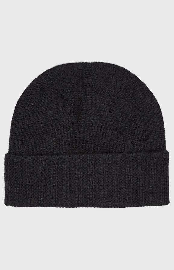 Women's Scottish Cashmere Beanie In Black