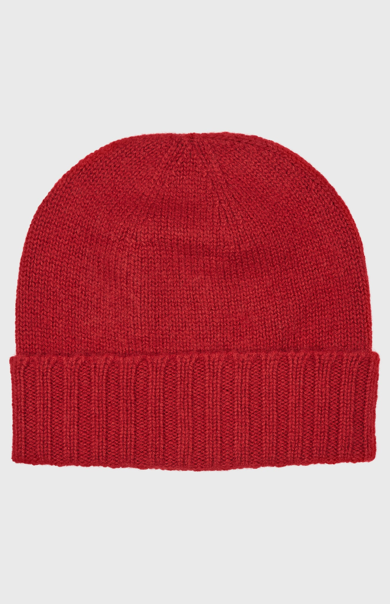 Women's Scottish Cashmere Hat In Deep Red