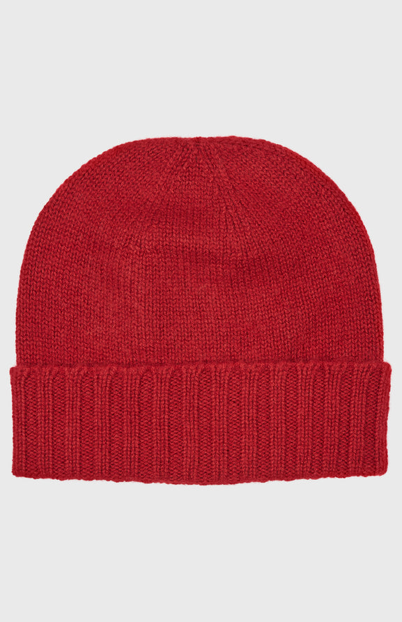 Women's Scottish Cashmere Beanie In Red