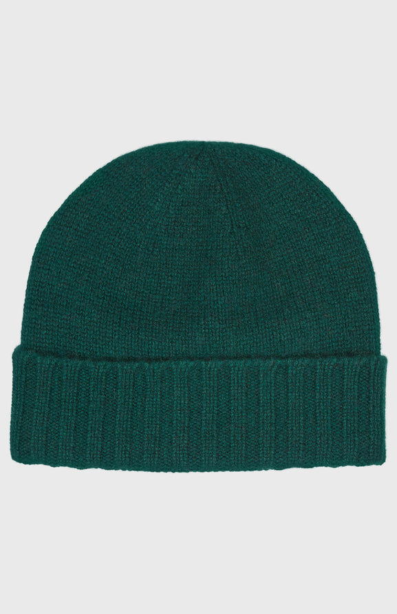 Women's Scottish Cashmere Hat In Evergreen