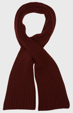 Cross Over Scarf Scottish Cash In Burgundy