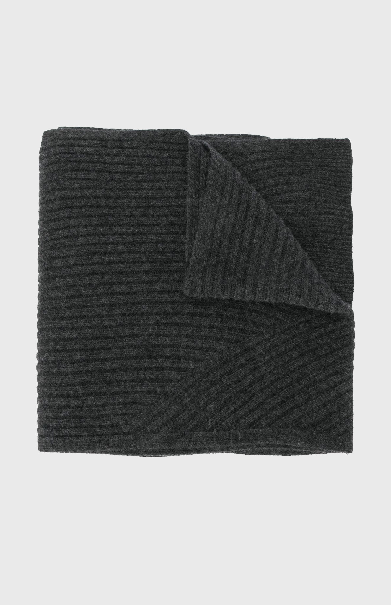 Pringle of scotland Travel Rib Scarf In Charcoal
