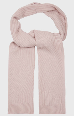 Travel Rib Scarf In Powder Pink