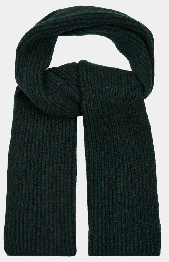 Cosy Cashmere Scarf In Forest Green
