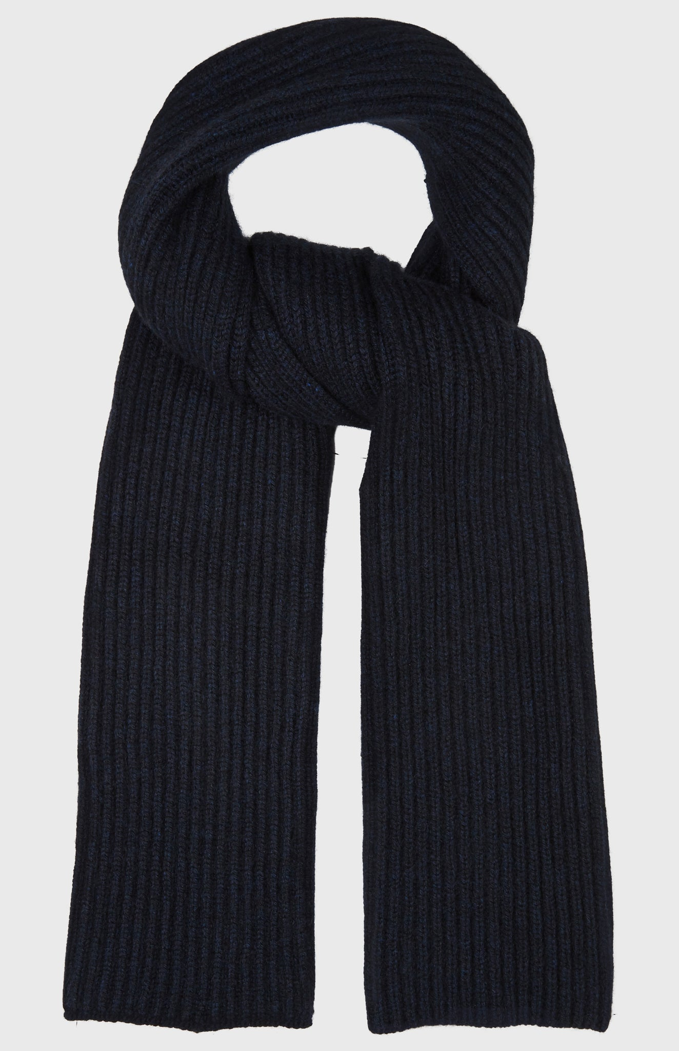 Cosy Cashmere Scarf In Midnight
