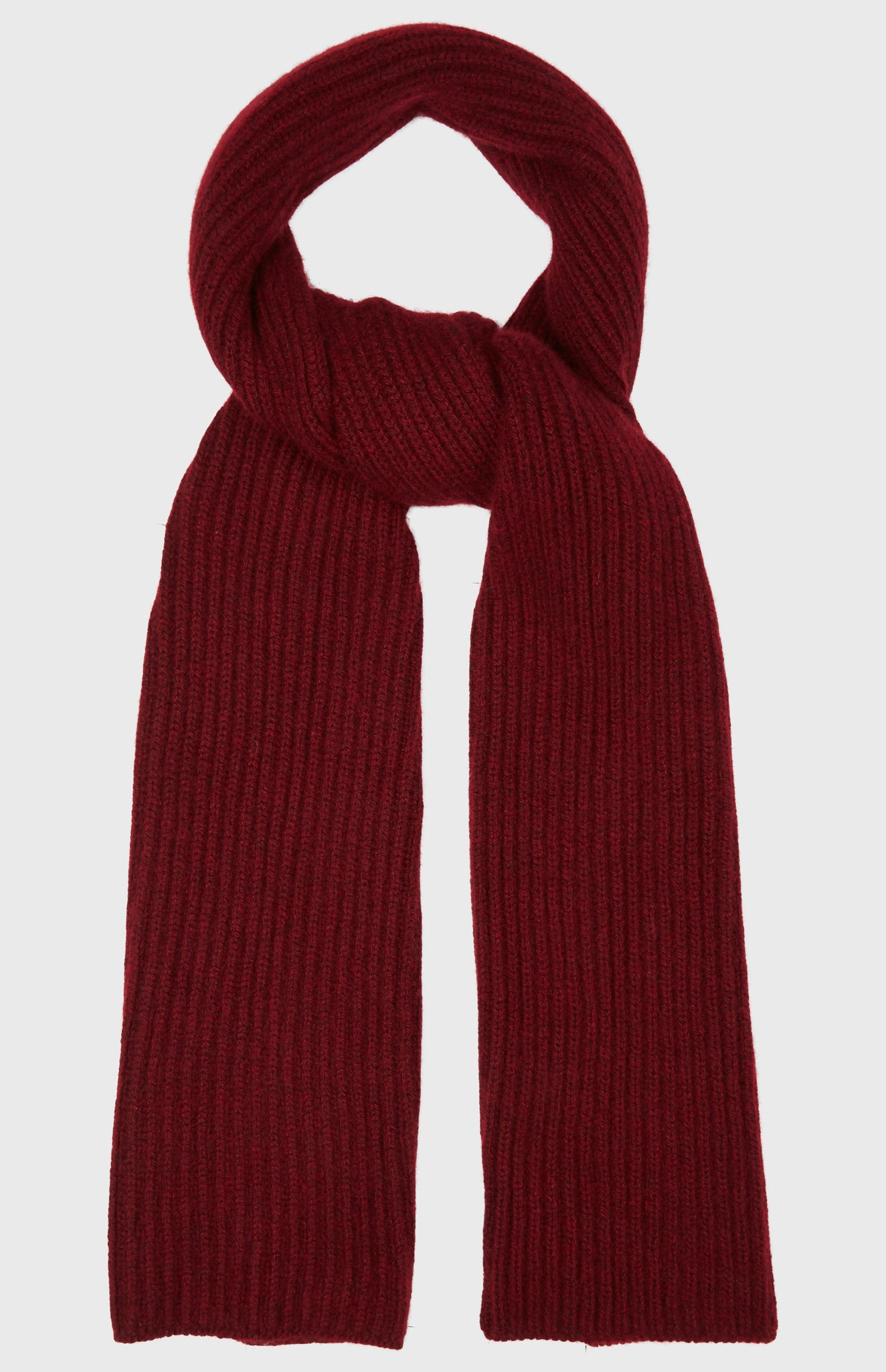 Cosy Cashmere Scarf In Burgundy