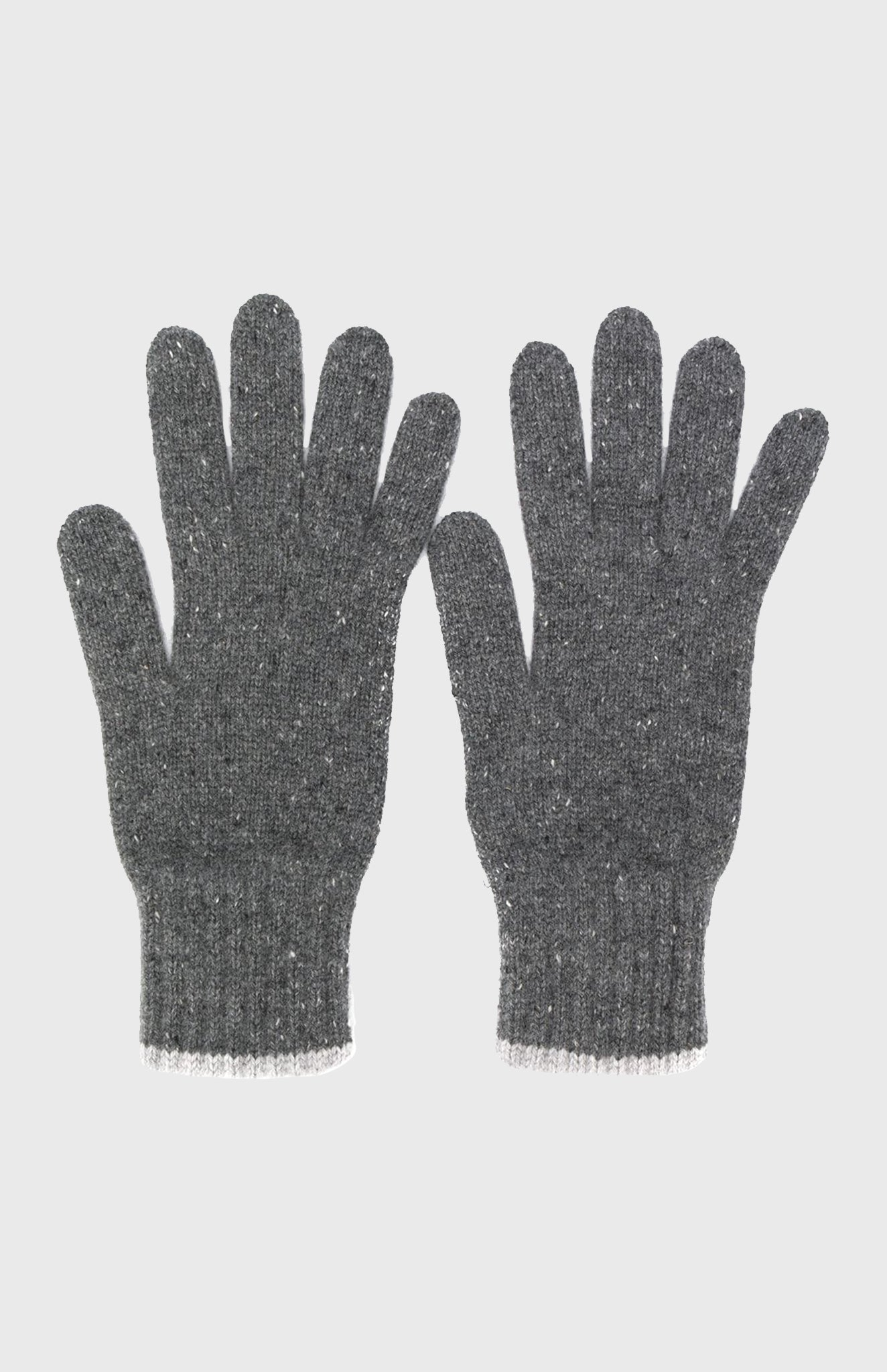 Tweed Cashmere Gloves In Graphite