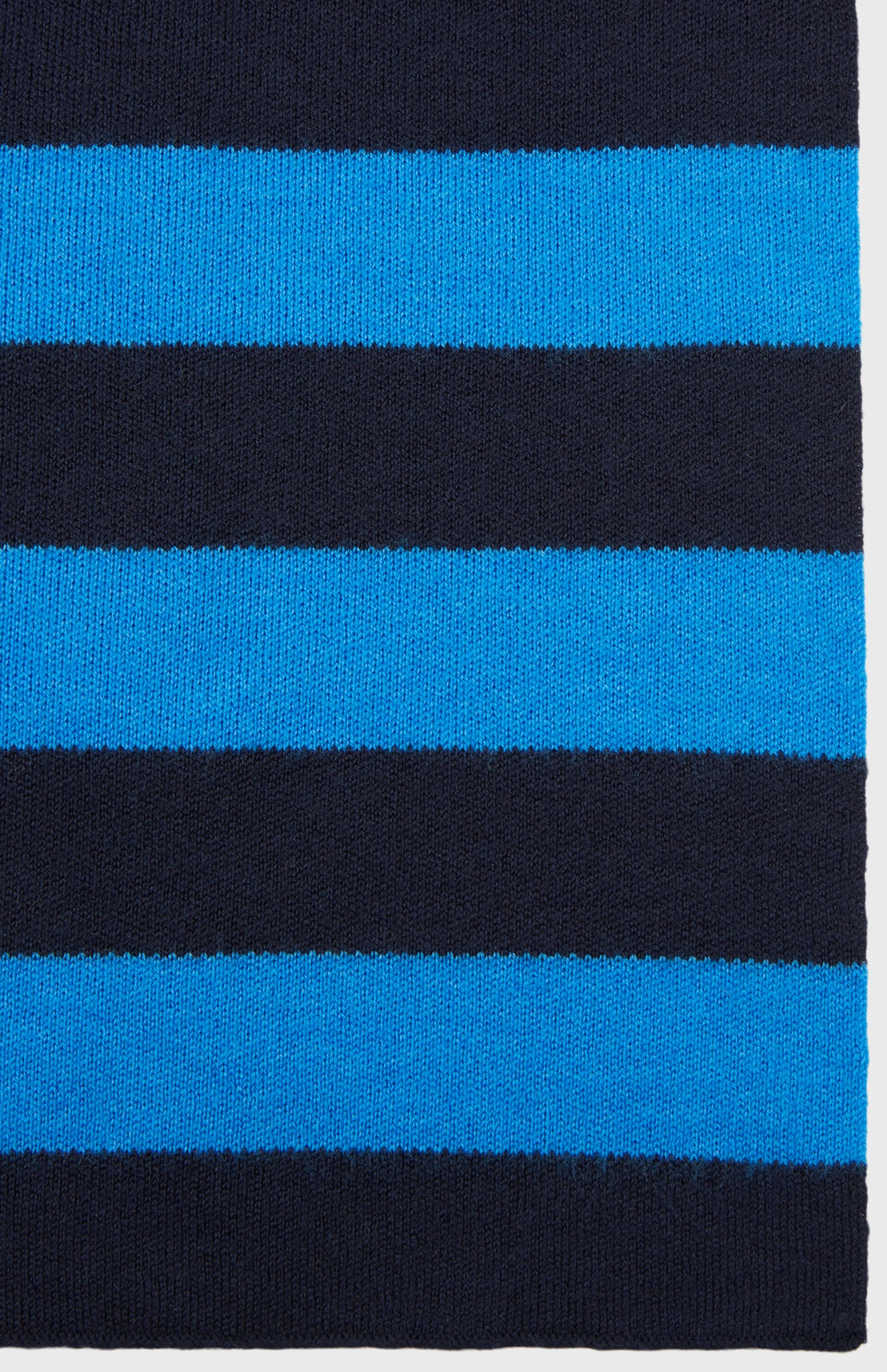 Merino Rugby Stripe Scarf In Ink/Flannel Grey
