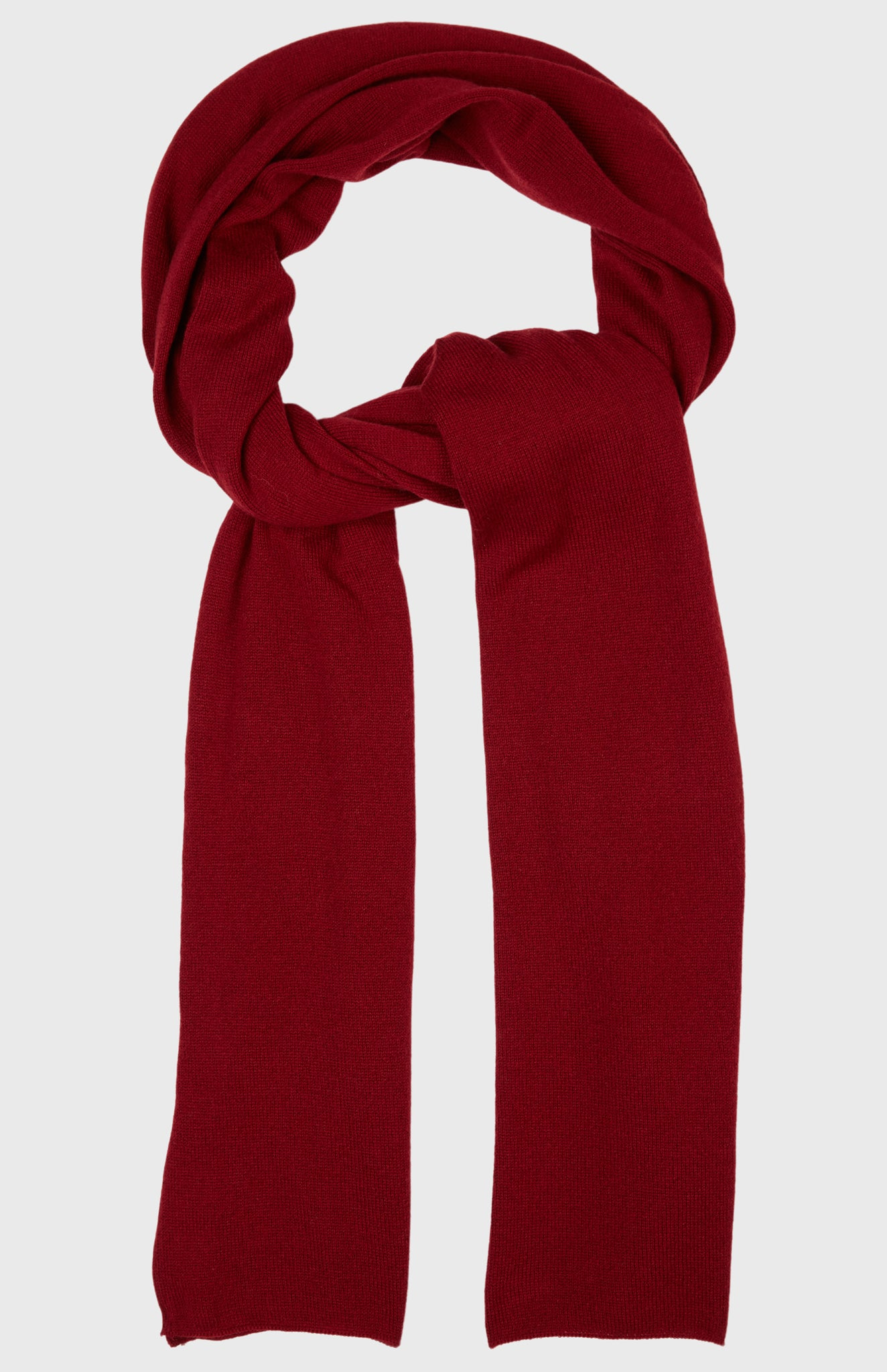Men's Classic Cashmere Scarf In Deep Red
