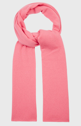Men's Classic Cashmere Scarf In True Pink