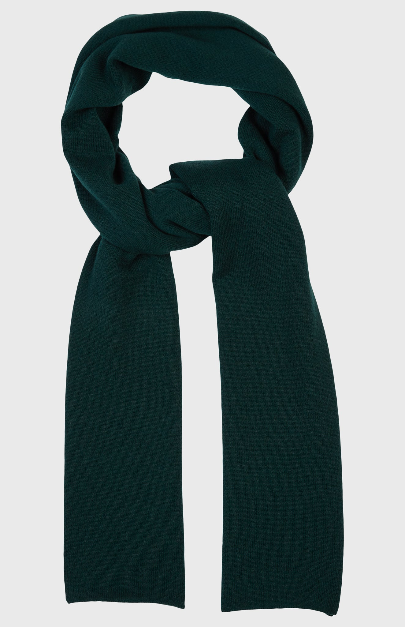 Men's Classic Cashmere Scarf In Evergreen