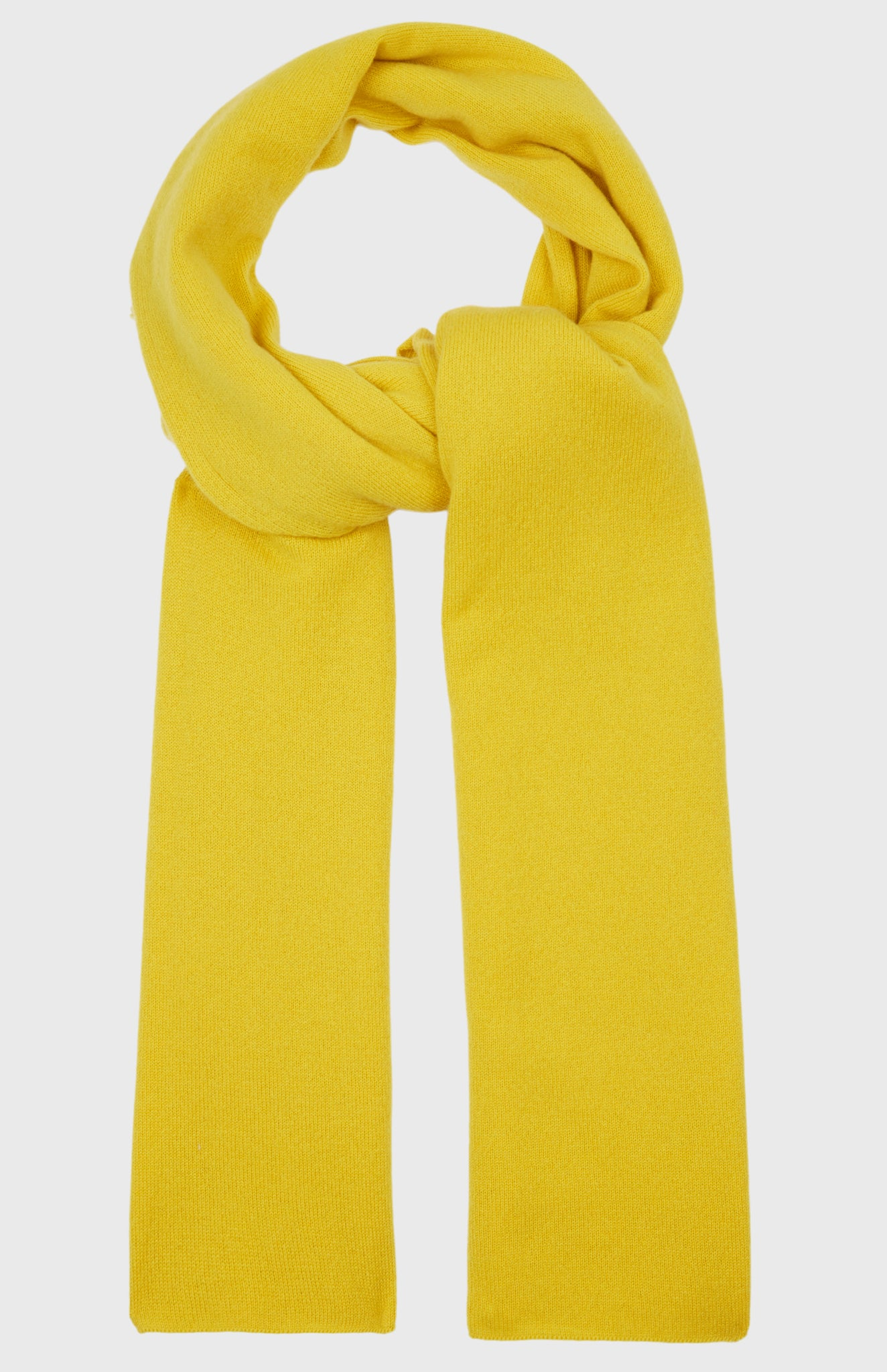 Men's Classic Cashmere Scarf In Acid Yellow