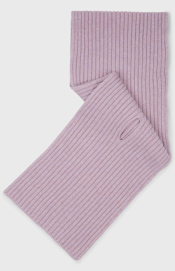 Cross Over Cashmere Scarf In Heather