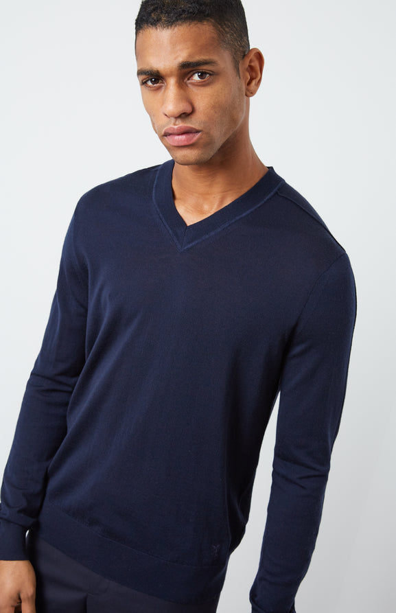 Merino Jumper In Navy