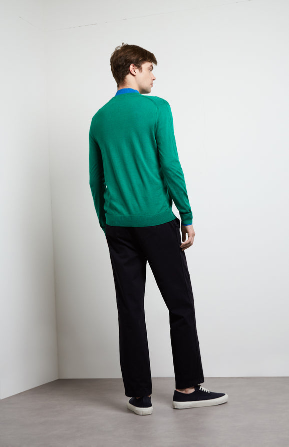 Merino Jumper In Green