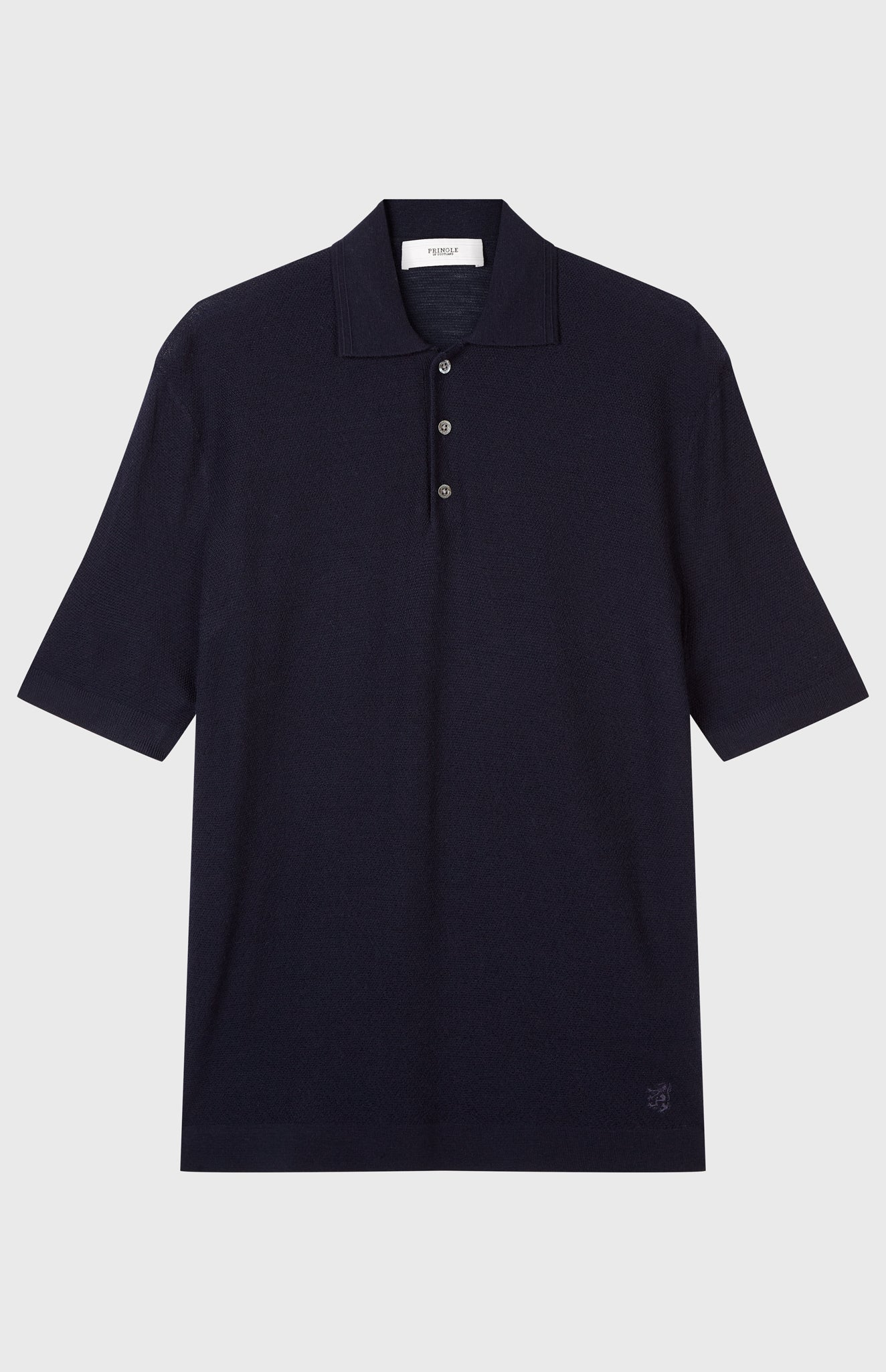 Merino Wool Polo Shirt In Ink