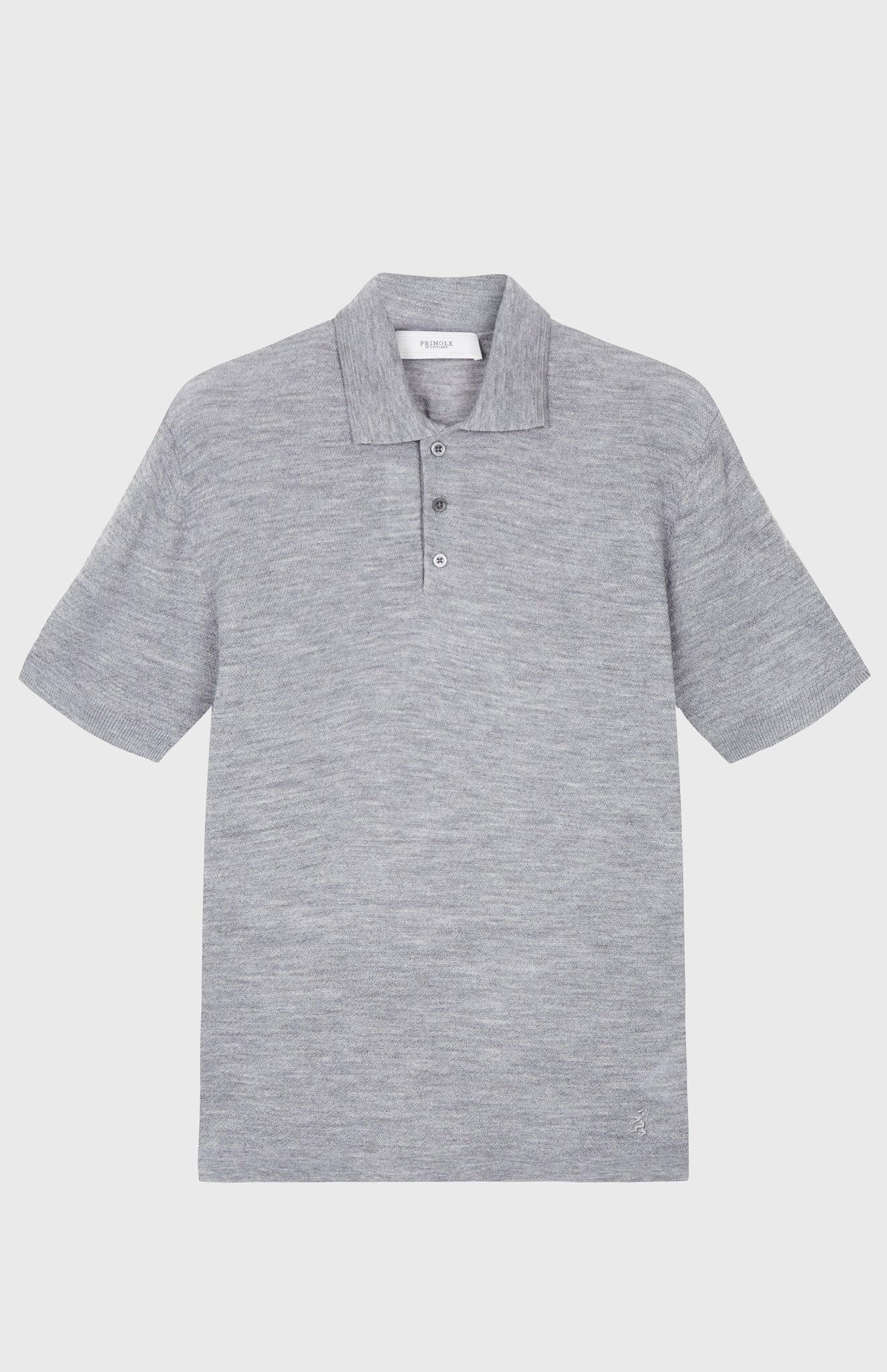 Merino Polo Shirt In Grey