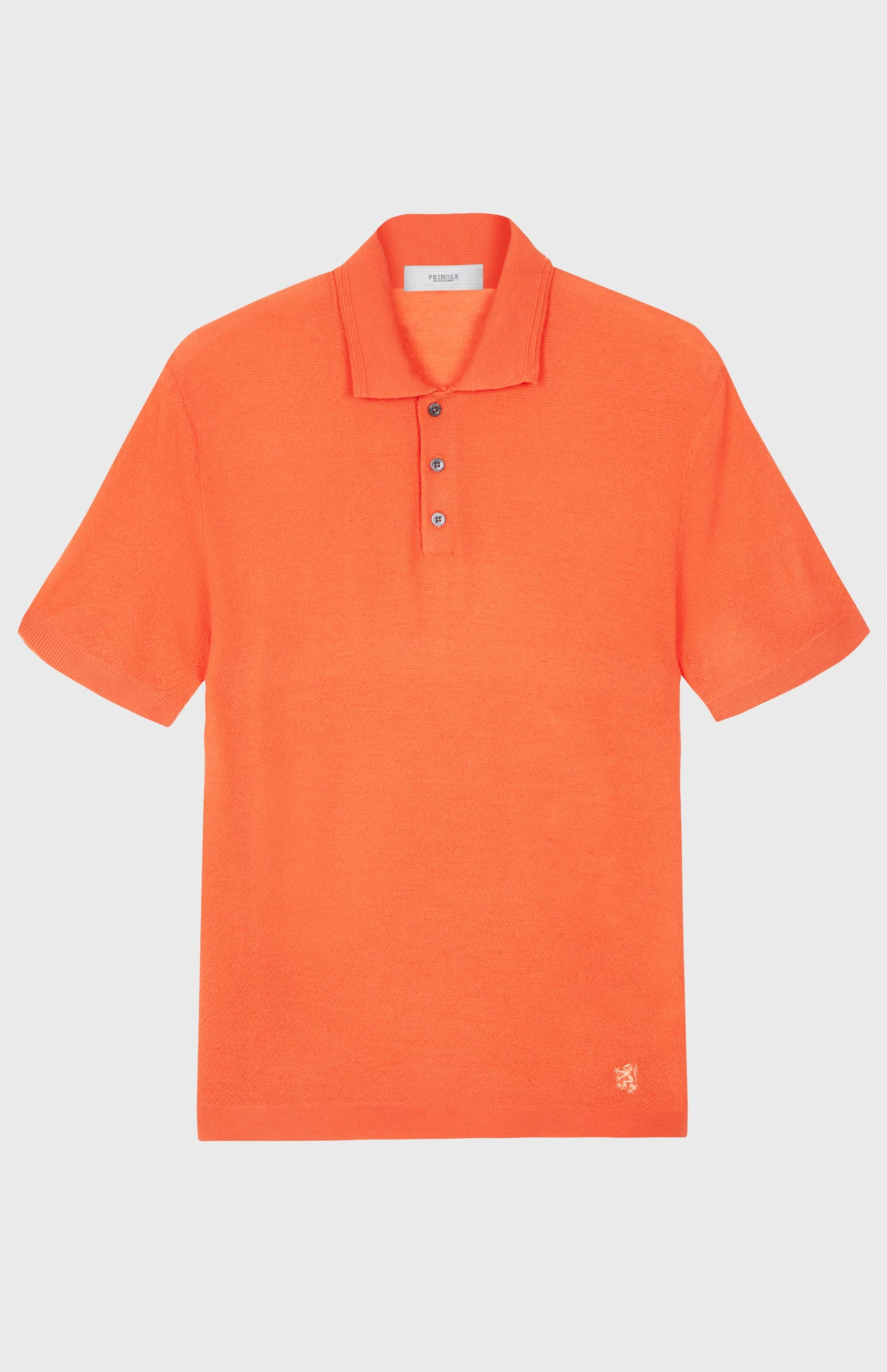 Merino Wool Polo Shirt In Tangerine