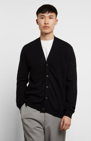 Scottish Cashmere Cardigan Black