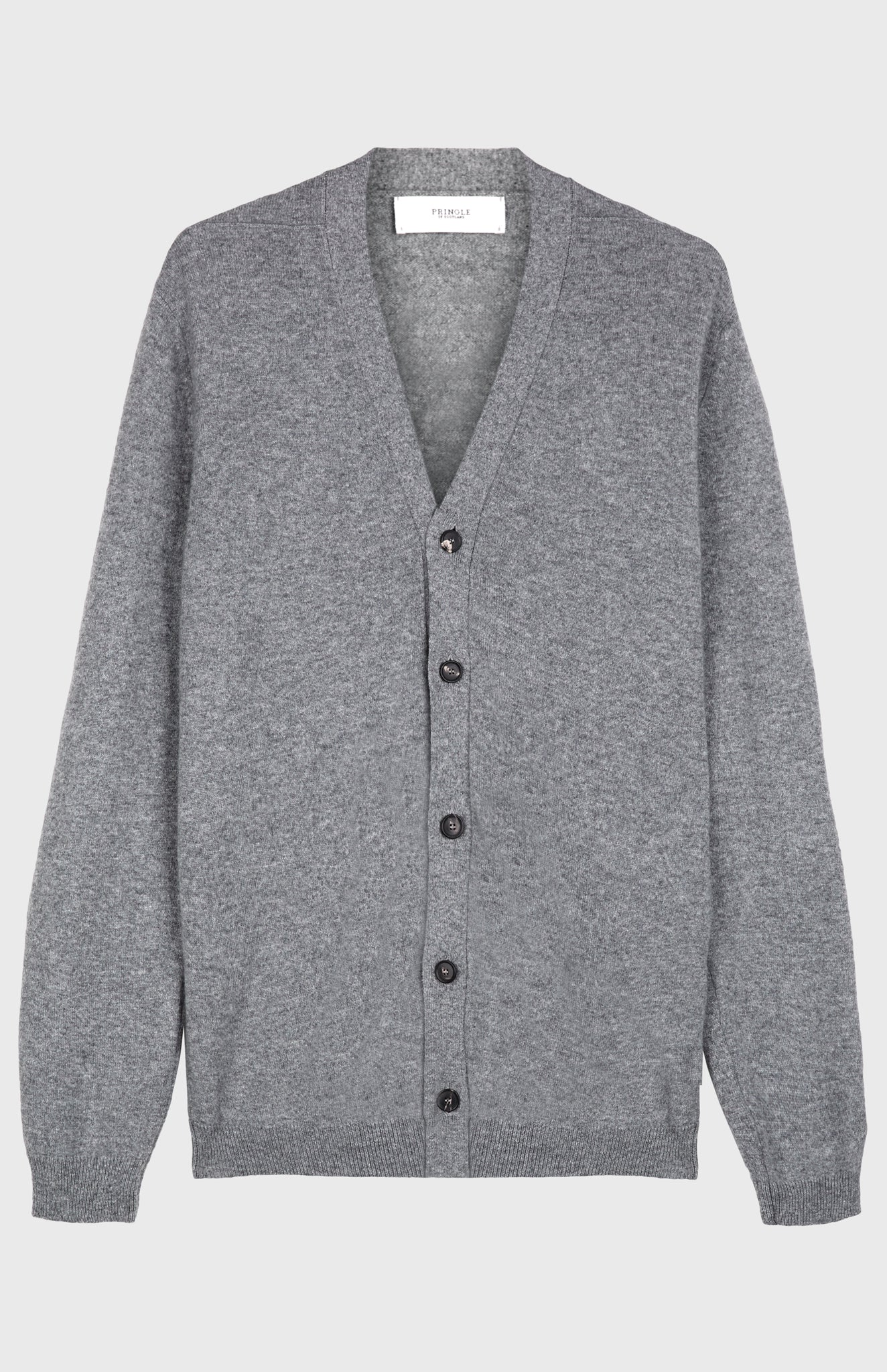 Scottish Cashmere Cardigan Grey
